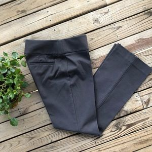 Loft Julie dark gray career pants size 2